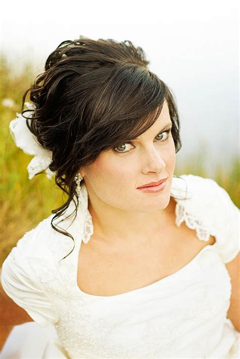 hair and make up by steph how to incorporate your bangs into your wedding hairstyle