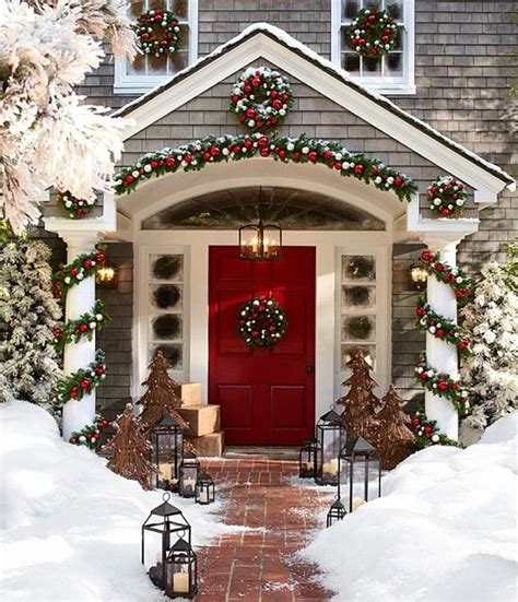 christmas front porch decorating ideas pretty designs