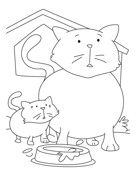 Cp Momkitty Kid 1 kitten with cat coloring pages free kitten with cat coloring pages for