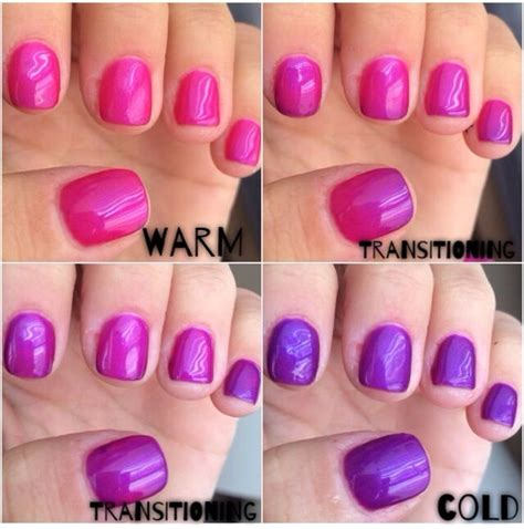 color changing nails lechat mood color changing gel nail nails