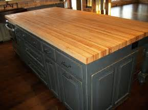 Kitchen Island With Butcher Block Top Borders Kitchen Solid American Hardwood Island With