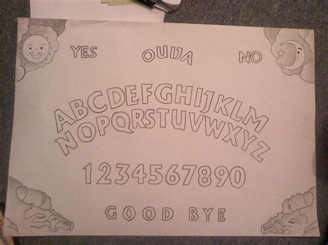How To Make Ouija Board Out Of Paper - my home made ouija board by pandapuppyxd on deviantart