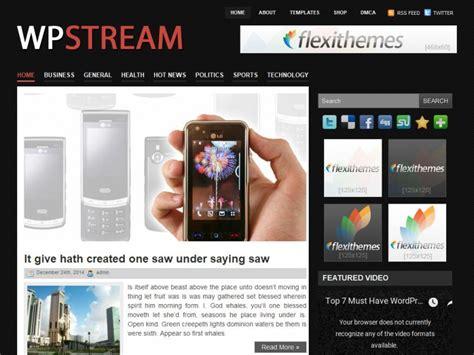 wordpress themes for live tv wpstream a free general blog wordpress theme by flexithemes