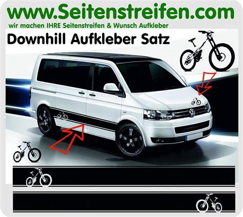 Aufkleber Vw Bus T5 by Downhill Bike Biker Seitenstreifen Aufkleber Sticker Set
