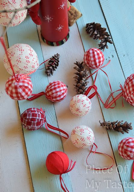 christmas bulbs demcoration with fabric diy fabric ornaments