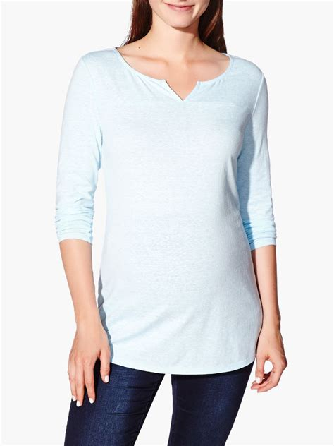 Split Neck Sleeve Top sleeve split neck maternity top thyme maternity