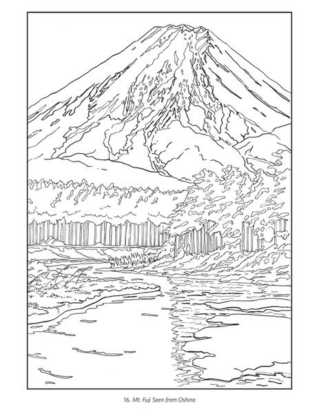 japanese castle coloring page kawase hasui coloring book