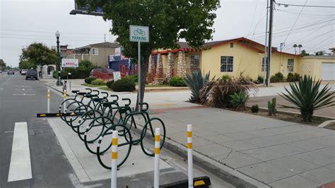 bicycle parking  san diego southern california regional rocks  roads