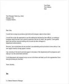 Business Letter Exle Resignation 36 Resignation Letter Template In Doc Free Premium Templates