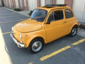 Yellow Fiat 500 For Sale 1970 Yellow Fiat 500l Cinquecento Abarth Microcar For