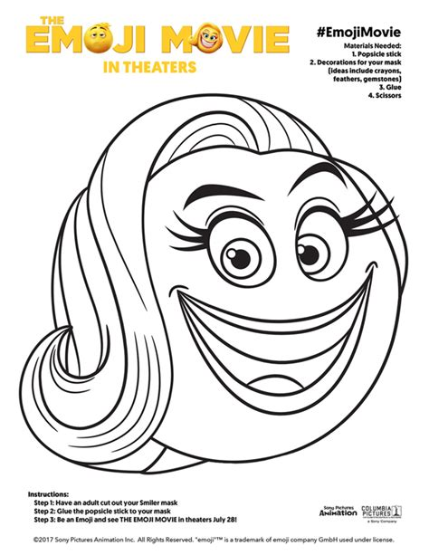 printable masking film 5 free printable emoji movie mask for kids