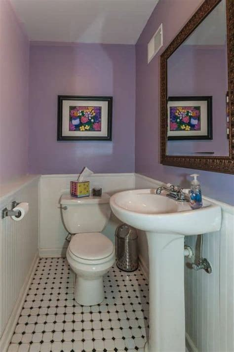 purple powder room ideas
