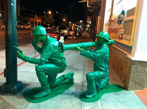 halloween couple  homemade green army men costumes