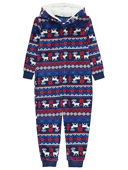 images of christmas onesies fairisle hooded christmas onesie kids george