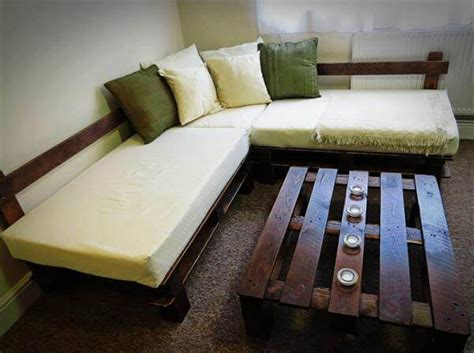 home made couch diy pallet sectional sofa with lights