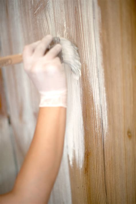How To Whitewash Wood Panel Walls | how to whitewash wood paneling in a few simple steps fresh
