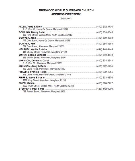 address directory churchpro reports