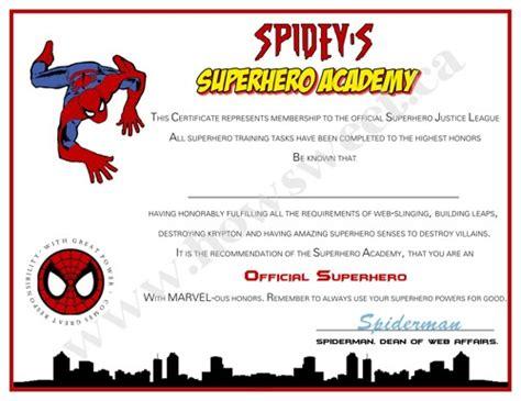 superhero training certificate sweetparties children s