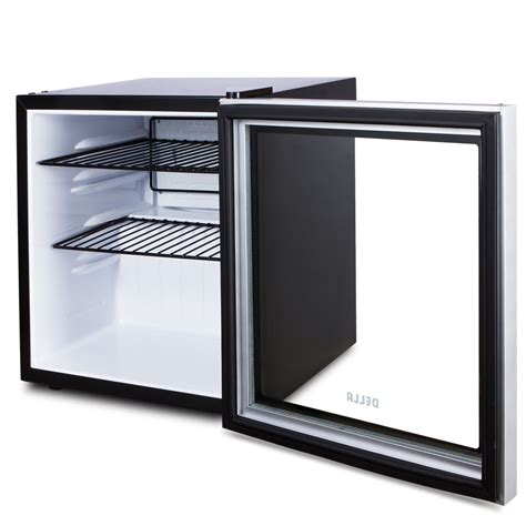 Beverage Refrigerators Glass Door Beverage Refrigerator Mini Fridge Cooler Glass Door Wine Soda Drinks Black Ebay