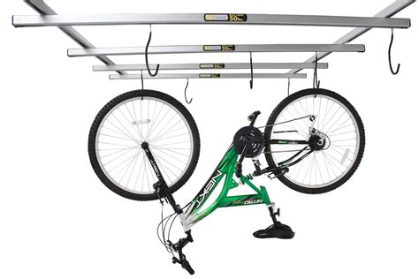 ceiling mount bike rack saris cycleglide ceiling mounted 4 bike storage system