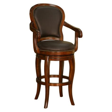 Genuine Leather Swivel Bar Stools by American Heritage Billiards Santos Swivel Genuin Target