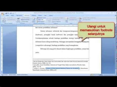 cara membuat footnote ms 2007 cara membuat footnote dan endnote catatan kaki dengan mudah
