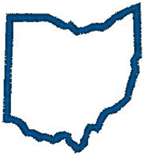 Outline Of Ohio Vector by United States Embroidery Design Ohio Outline From Hirsch