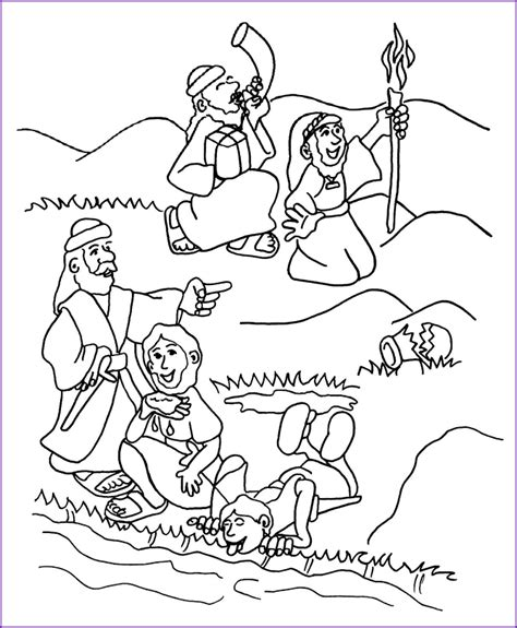 Gideon Coloring Pages gideon coloring page coloring home