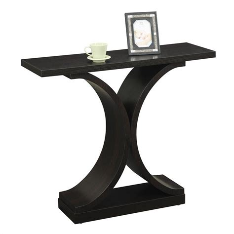 infinity console infinity console table espresso 121899