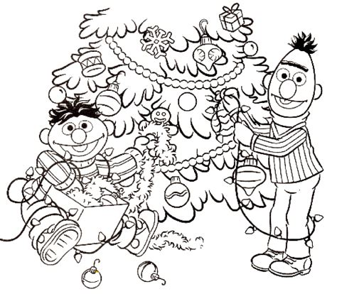 sesame street christmas coloring pages colorr me