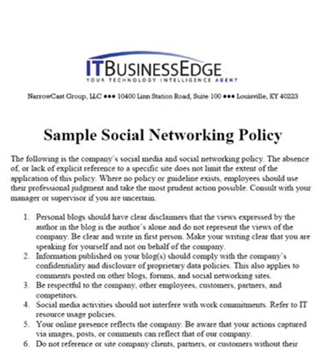 How To Create A Social Media Marketing Policy Dummies Marketing Policies And Procedures Template