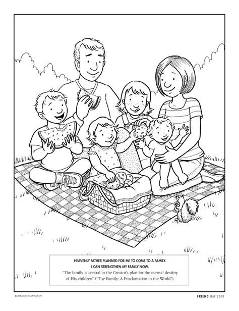 coloring pages of joint family happy clean living primary 2 lesson 6