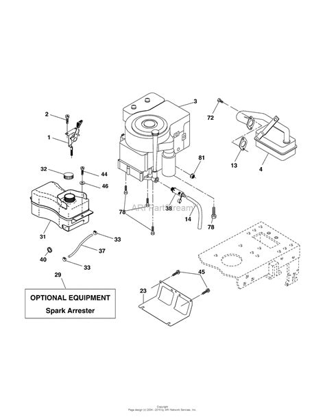 diagram for 15 of 60 murray 42l15g60x8a 960120078 15 5hp 42 quot lawn tractor