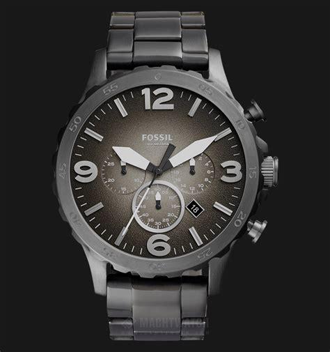 Jam Tangan Jonas Date Original fossil jr1437 nate chronograph smoke stainless steel