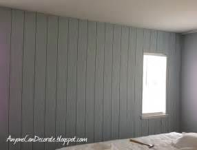 Anyone can decorate diy d wood panel wall master makeover progress