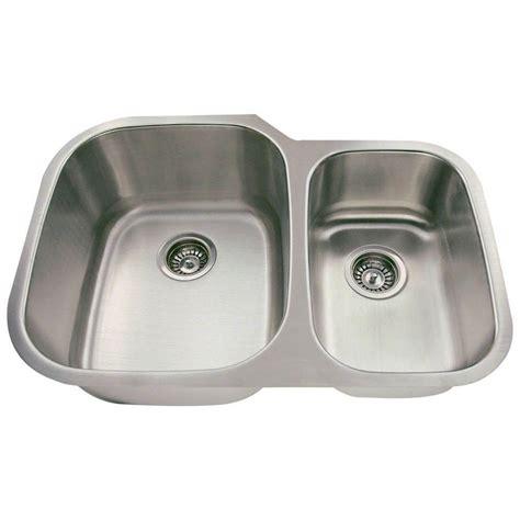 3 Bowl Kitchen Sink Undermount Polaris Sinks Undermount Stainless Steel 29 3 8 In Bowl Kitchen Sink Pl605 18 The Home