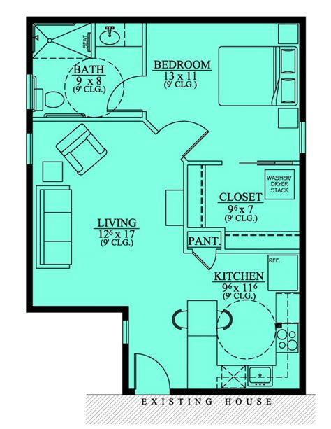 House Floor Plans With Inlaw Suite | 654186 handicap accessible mother in law suite house