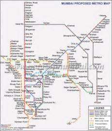 Mumbai Metro Map by Mumbai Metro Map Map Of Africa