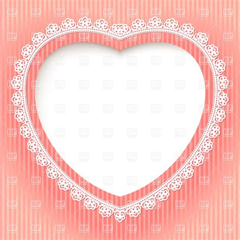 Photo Frame Card Template by Decorative Shaped Lace Frame Festive Card Template