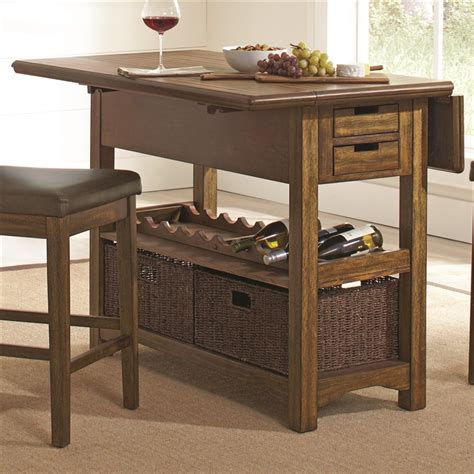 counter height kitchen islands salerno 3 counter height kitchen island in wire brushed finish by coaster 105567
