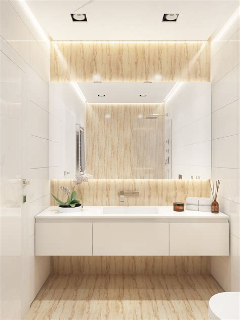 bathroom interiors similarly simple designs with a bright and cheerful tone