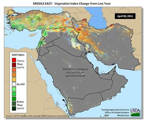 middle east highlighted map middleeast wheat may2011
