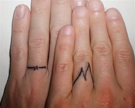 thumb ring tattoo designs wedding ring finger tattoos designs unique engagement ring