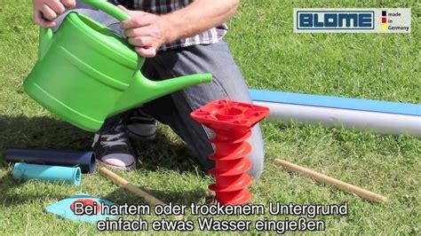 Bodenanker Ohne Beton by Blome Eindreh Bodenschraube Gardenfix Bodenh 252 Lse