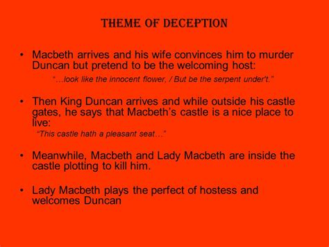Macbeth Themes Deception | the tragedy of macbeth by william shakespeare written