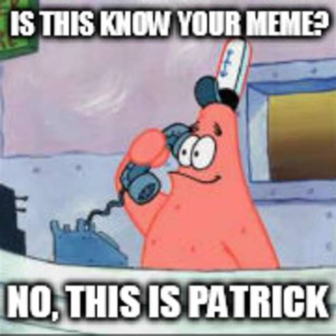 No Patrick Meme - entry 4 into the login image contest no this is