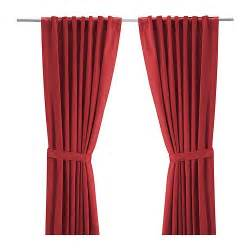 ritva curtains with tie backs 1 pair 145x250 cm ikea