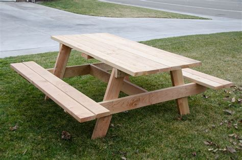 simple but large picnic table by fridgecritter lumberjocks com woodworking community