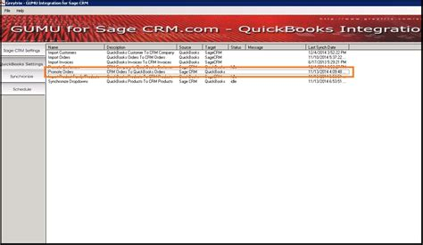 promote orders from crm to quickbooks using gumu