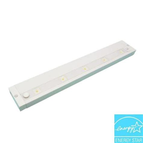 Juno 18 In White Led Dimmable Linkable Under Cabinet Cabinet Lighting Home Depot